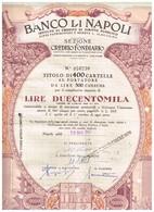 Obligation Ancienne -  Banco Di Napoli - Istituto Di Credito Di Diritto Pubblico  - Titulo De 1963 - N°056230 - Actions & Titres