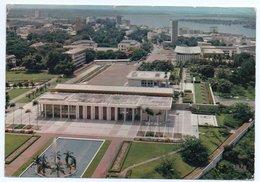 COTE D'IVOIRE - VUE AERIENNE - LE PALAIS DE LA PRESIDENCE / THEMATIC STAMPS-BIRD - Costa D'Avorio