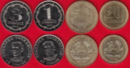 Tajikistan Set Of 4 Coins: 20 Diram - 3 Somoni 2019 UNC - Tadjikistan