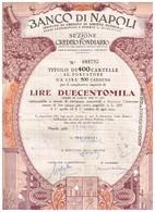Obligation Ancienne -  Banco Di Napoli - Istituto Di Credito Di Diritto Pubblico  - Titulo De 1967 - N°089793 - Actions & Titres