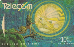 TARJETA TELEFONICA DE NUEVA ZELANDA, 1992 Maori Legends, Rona Is Abducted By The Moon. NZ-G-060. (083) - Neuseeland