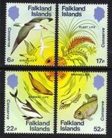 Falkland Islands 1984 QE2 Set 4 Nature Conservation Umm SG 492 - 495 ( K437 ) - Falklandeilanden