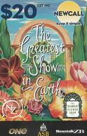 "TARJETA TELEFONICA DE NUEVA ZELANDA, ""The Greatest Show In Earth"". (REMOTA). NZR-NC-004. (074) - Neuseeland"