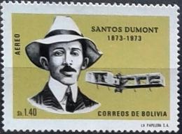 """Bolivia 1973 * CEFIBOL 942 Centenario Del Aviador Brasileño Santos Dumont. """"Padre De La Aviación"""" - Bolivia"""