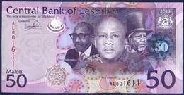 SWAZILAND 50 MALOTI P-23b THREE KINGS HORSEMEN HUTS 2013 UNC - Lesotho