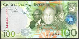 SWAZILAND 100 MALOTI P-24b THREE KINGS SHEPHERD 2013 UNC - Lesotho