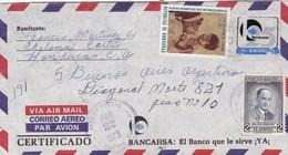 COMMERCIAL ENVELOPE - BANGAHSA BANCO AIRMAIL YEAR 1973 CIRCULEE HONDURAS TO ARGENTINE - BLEUP - Honduras