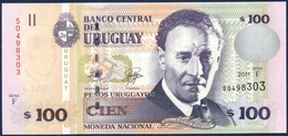 URUGUAY 100 PESOS P-88b Eduardo Fabini God Pan 2011 UNC - Uruguay