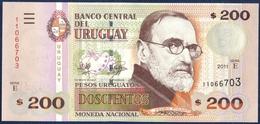 """URUGUAY 200 PESOS P-89c Pedro Figari - Old Dance """"Baile Antiguo"""" 2011 UNC - Uruguay"""