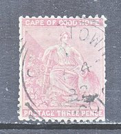 Cape Of Good Hope  26  Faults, Expertized  (o)    CC Wmk. - South Africa (...-1961)