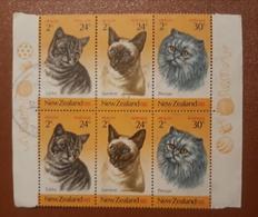 CATS, FELINAS, New Zealand  1983,paar X2 Used - Gatos Domésticos