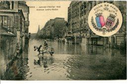 75012 - Écusson Ville De PARIS - Crue 1910 - Avenue Ledru-Rollin - Cavalière En Amazone - District 12