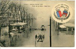 75013 - Écusson Ville De PARIS - Crue 1910 - Porte De La Gare, Quai D'Ivry - Arrondissement: 13