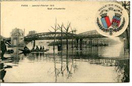 75013 - Écusson Ville De PARIS - Crue 1910 - Quai D'Austerlitz - Arrondissement: 13