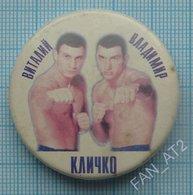 UKRAINE / Badge, Pin / Boxing. Brothers Vitaly And Vladimir Klitschko 2000 - Boxing