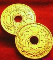 MONNAIE DE FRANCE 10 CENTIMES FRANCE OR PL LINDAUER 1938 Edition Limitee  TRES  RARE - Gold