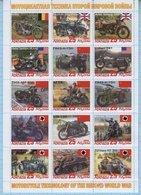 Abkhazia / Stamps / Private Issue. Motorcycle Technology. World War II. Motorcycles. Transport 2019. - Fantasie Vignetten