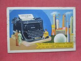 14 Ton Giant Underwood Master Typewrite  1940 NY Worlds Fair    Ref 3403 - Exhibitions