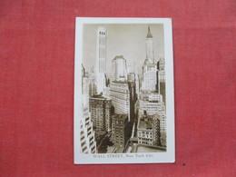 RPPC  Wall Street  - New York > New York City      Ref 3403 - Manhattan