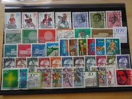 Bund Jahrgang 1970 Gestempelt Komplett (7905) - Used Stamps