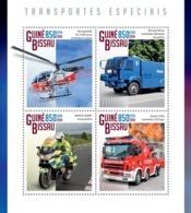 Guinea Bissau 2014  Special Transport  Air Ambulance  Fire Truck - Guinea-Bissau