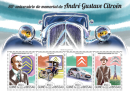 Guinea Bissau 2015   André-Gustave Citroën  Cars Automobiles - Guinea-Bissau