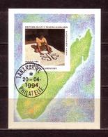 127f * MADAGASKAR BLOCK * TEPPICHE * GESTEMPELT ** !! - Madagaskar (1960-...)