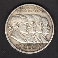 05-GERMAN EMPIRE-PROPAGANDA Coin Medall Fuhrer ADOLF HITLER-MUSSOLINI..WWII..DEUTSCHES REICH.médaille- Pièce. - 1939-45