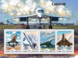 Guinea Bissau 2015  Concorde  Airplanes - Guinea-Bissau