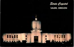 Oregon Salem State Capitol Building At Night - Salem