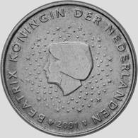 MONNAIE Pays-Bas, 5 Euro Cent, 2001 Euro Fautée/error Non Cuivrée - Variétés Et Curiosités