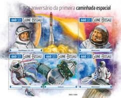 Guinea Bissau 2015  First Spacewalk  ,Pavel Belyayev Space - Guinea-Bissau