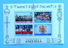 Anguilla 1978  1 S\s 25 Anniversary Of The Queens Elizabeth II Coronation  MNH ( ** ) - Anguilla (1968-...)