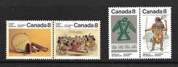CANADA 1975 INDIENS DU NORD YVERT N°561/64 NEUF MNH** - 1952-.... Elizabeth II