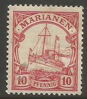 Mariana Islands - 1901 Kaiser's Yacht 10pf MH *    Sc 19 - Colony: Mariana Islands