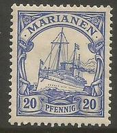 Mariana Islands - 1901 Kaiser's Yacht 20pf MH *    Sc 20 - Colony: Mariana Islands