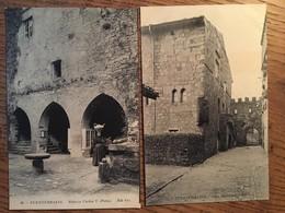 2 CPA, FUENTERRABIA, Palacio Carlos V (animée) Et Casa Historica,ND Fot, Non écrites - Guipúzcoa (San Sebastián)