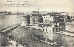 7-TARANTO-LA FLOTTA ITALIANA AL COMANDO DEL DUCA DEGLI ABRUZZI IN RADA  DEL MAR GRANDE (24 MAGGIO 1915) - Guerra