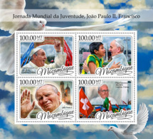 Mozambique 2016 World Youth Days ,Pope Francis, John Paul  II - Mozambique