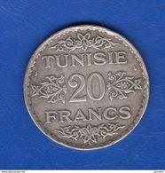 Tunisie  20  Fr  1353 Arg - Tunisie