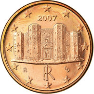 Italie, Euro Cent, 2007, SPL, Copper Plated Steel, KM:210 - Italie