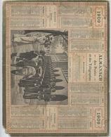 Almanach Des Postes, 1909,la Garde Montante, Département,Ariège,Foix, Pamiers, St Girons, - Calendari