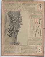 Almanach Des Postes, 1907, Duel Au Moyen âge Département,Côte D'Or,,Dijon, Beaune,Châtillon,Semur - Calendari