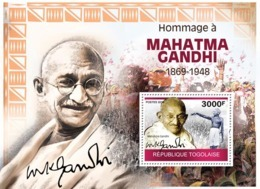 Togo 2010   Tribute To Mahatma Gandhi - Togo (1960-...)