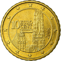 Autriche, 10 Euro Cent, 2008, SPL, Laiton, KM:3139 - Autriche