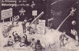 Konvolut 5 Seltene ALTE  AK  WELTUNTERGANG 19.Mai 1910 - Gedruckt 1910 - Astronomie