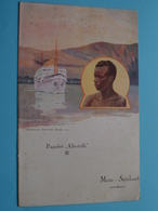 "Paquebot "" ALBERTVILLE "" Cie Maritime Belge > Menu * Spijskaart > 2de Classe Déjeuner 8 Mai 1937 ( Zie / Voir Photo ) ! - Menus"