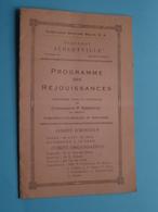 """Paquebot """" ALBERTVILLE """" Cie Maritime Belge > VOYAGE 54 Anvers-Congo 1937 > Programme Des Réjouissances ( Voir Photo ) ! - Menus"""