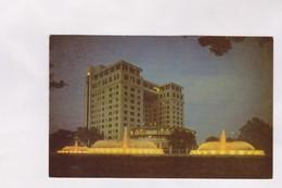 CPM HOUSTON, THE MECOM FOUTAIN  AT DUSK, WARWIK HOTEL - Houston