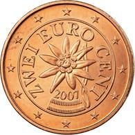 Autriche, 2 Euro Cent, 2007, SPL, Copper Plated Steel, KM:3083 - Autriche